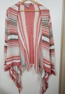 American Rag Cie medium poncho open sweater Fringe